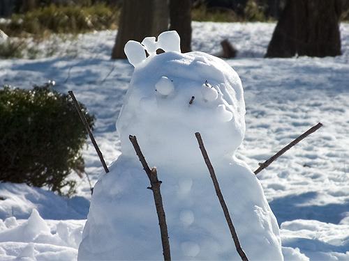 リボンの雪だるま